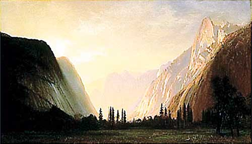 Albert Bierstadt (1830-1902, American), Yosemite Valley, oil on canvas.